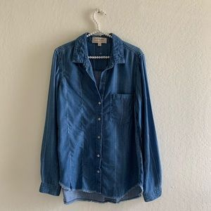 NWOT CLOTH & STONE Button Down Top